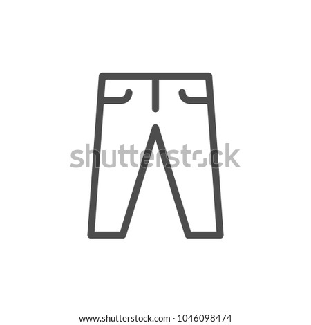 Pants line icon isolated on white