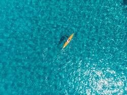 paolina beach on the island of elba by kayak