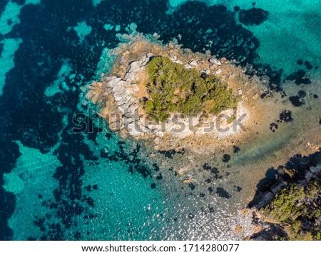 paolina beach on the island of elba by kayak Foto stock ©
