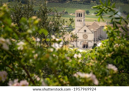 Papal Basilica of St. Francis of Assisi. Assisi, Umbria, Italy Stock photo ©
