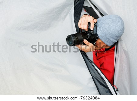 Paparazzi at work