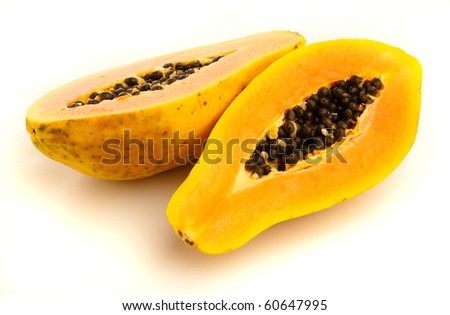 papaya - stock photo