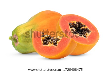 papaya isolated on white background Stockfoto ©