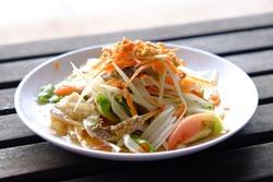 Papaya Salad with Blue Crab.