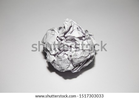 paper ball white recycle tin waste garbage #1517303033