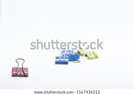 Paper Binder Clip creatively position that can illustrate a story #1567436212