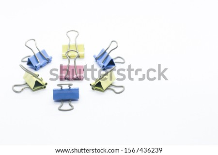 Paper Binder Clip creatively position that can illustrate a story #1567436239