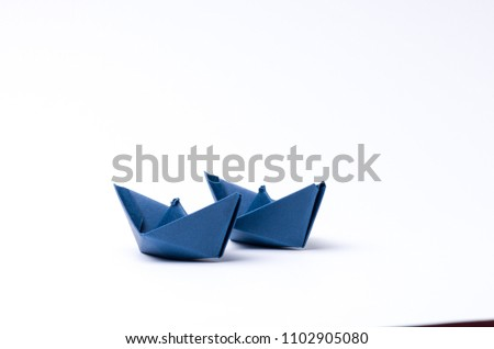 paper boat isolated on white #1102905080