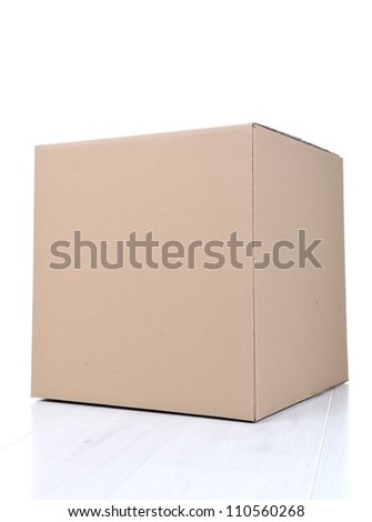 Paper box for packaging isolated