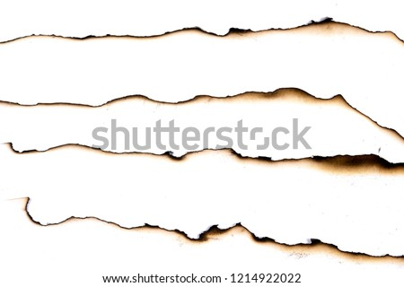 Photo of  paper burned old grunge abstract background texture