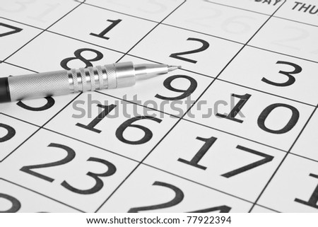 paper calendar on white backgrounds