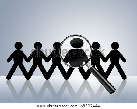 paper chain figures wanted employer job vacancy head hunter searching job search help wanted job ad hiring now find job application recruitment recruit staff