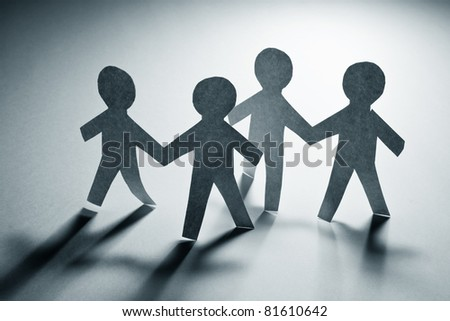 Paper Chain Men, concept of Teamwork #81610642