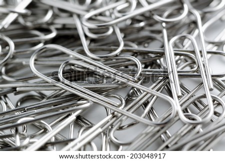 paper clip close up , texture