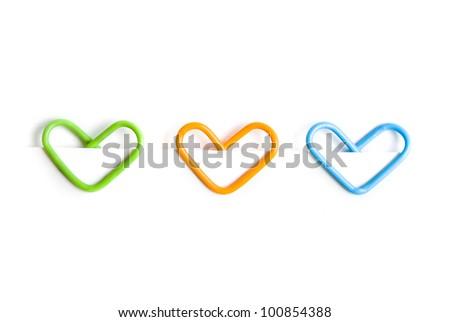 Paper clip. Heart form