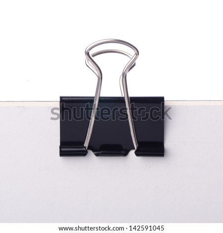 Paper clip in black, the image has clipping path that can be easy to moved the object.