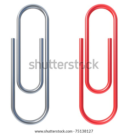 paper clip isolated over white background
