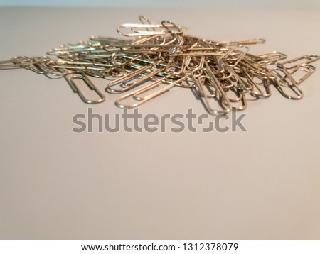 Paper clips. Metal paper clips.