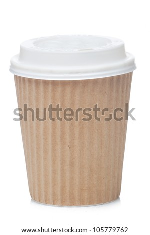 Paper coffee cup coffee to go