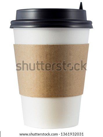 Paper coffee cup isolated on white background #1361932031