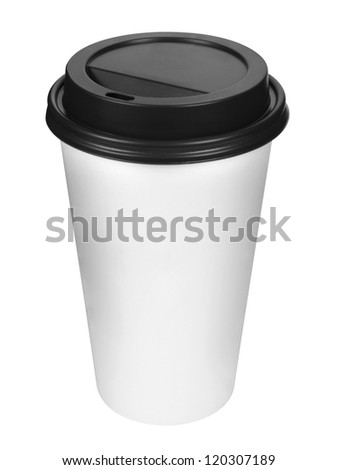 Paper coffee cup with plastic top