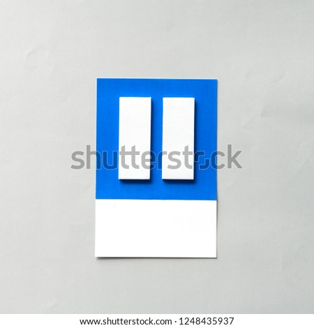 Paper craft art of pause button #1248435937