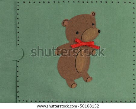 Paper craft greeting card face stock photo 50108152 for Craft paper card stock