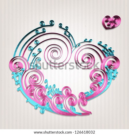 Paper Crafted Love Bubble - stock photo