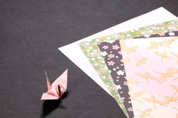 Paper crane and origami (craft paper)