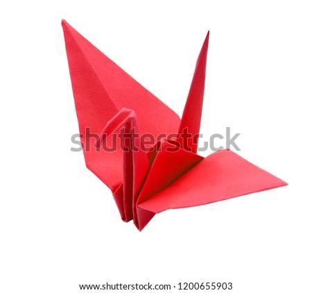 Paper crane origami #1200655903