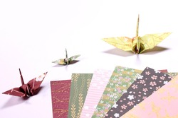 Paper cranes and origami  paper