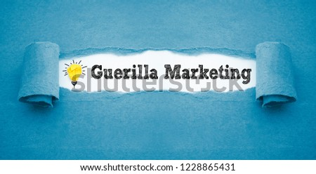 Paper crumpled Ligth with guerilla Marketing