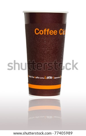 Paper cup for cold drinks