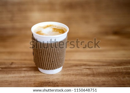 Paper cup of hot coffee  #1150648751