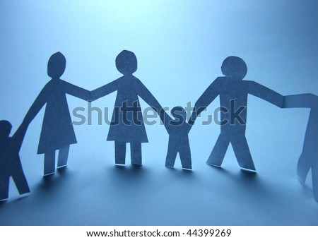 Paper cut family symbol