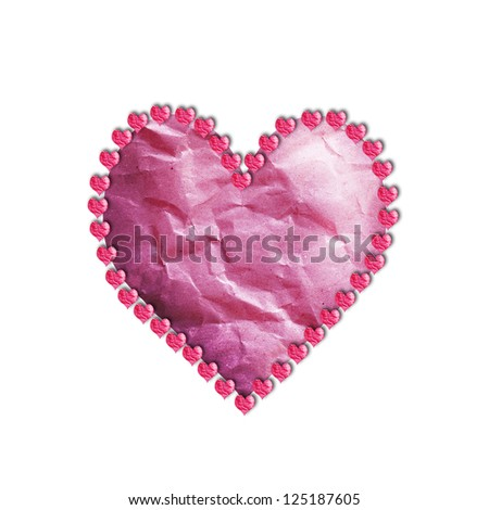 Paper heart wreath online shopping-the world largest paper heart ...