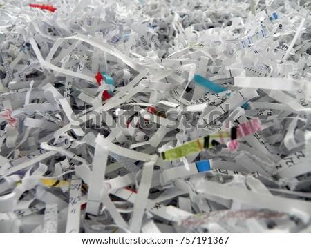 Paper cut into a shredder. Zdjęcia stock ©