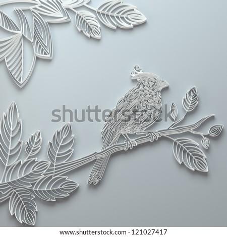 paper decorative bird illustration