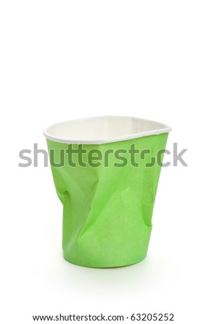 Paper Disposable Cup with white background