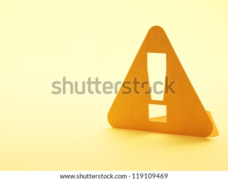Paper Exclamation mark sign generic warning