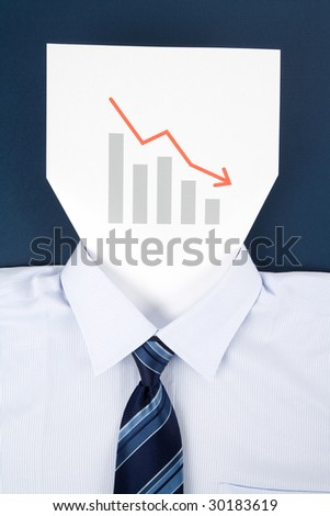 Paper Face and Chart, Business Concept