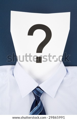 Paper Face and Question Mark, Business Concept