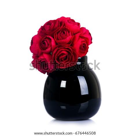 Free Photos Beautiful Flower In Black Vase On Black Background