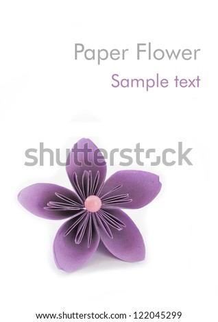 Paper flower with sample text