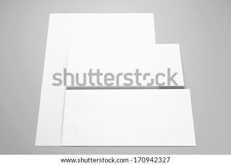 Paper, folded sheet of paper and envelope