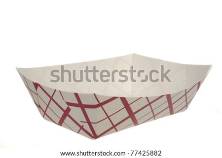 Paper Food Tray on White Background
