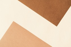 Paper for pastel overlap in beige and terracotta colors for background, banner, presentation template. Creative modern trendy background design in natural colors. Trendy paper for pastel background in