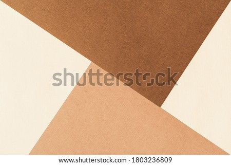 Paper for pastel overlap in beige and terracotta colors for background, banner, presentation template. Creative modern trendy background design in natural colors. Trendy paper for pastel background in Photo stock ©