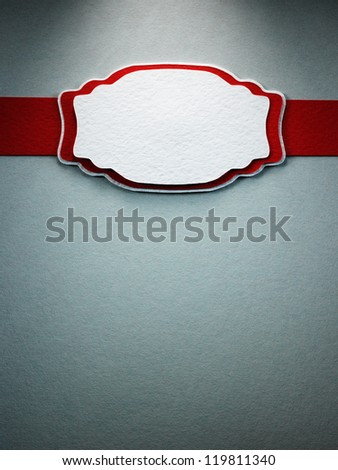Paper frame with a decorative border