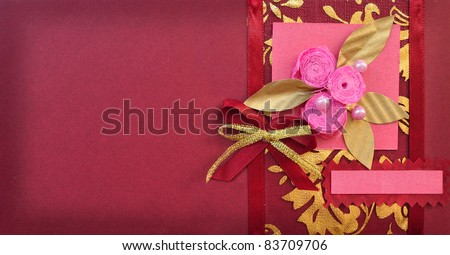 With quilling flower and bow wedding happy birthday christmas